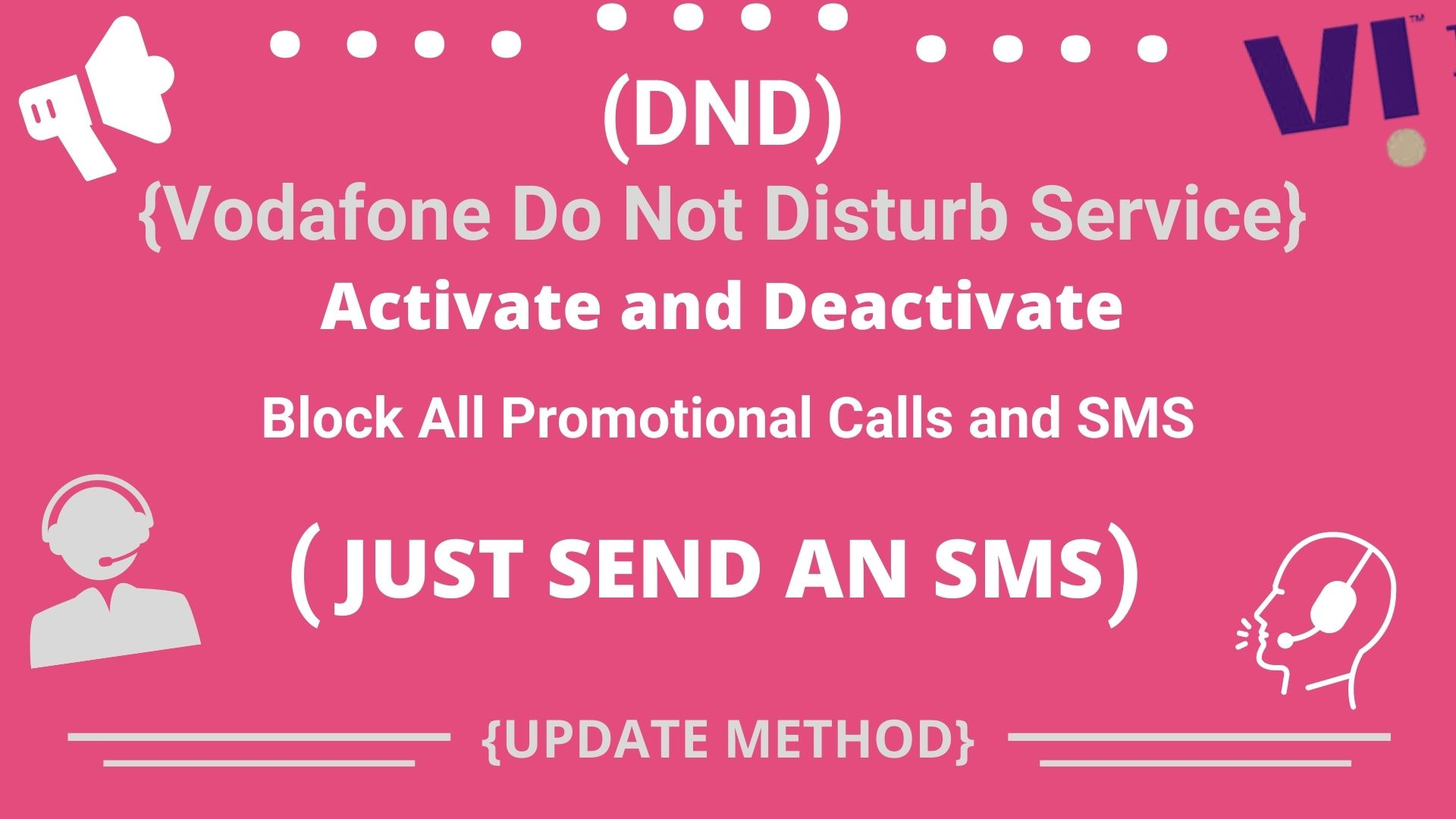 Activate DND Service in Vodafone