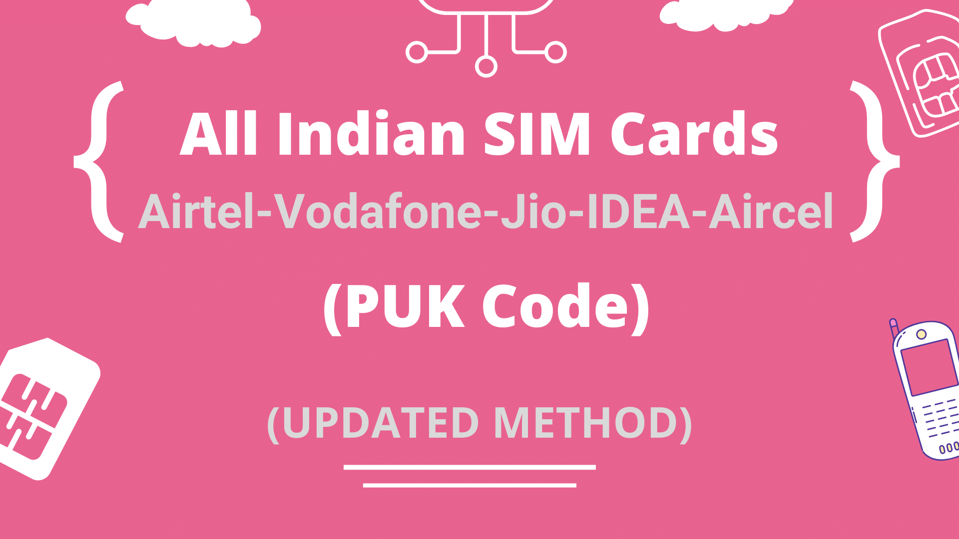 Get PUK Code of All Indian SIM Cards