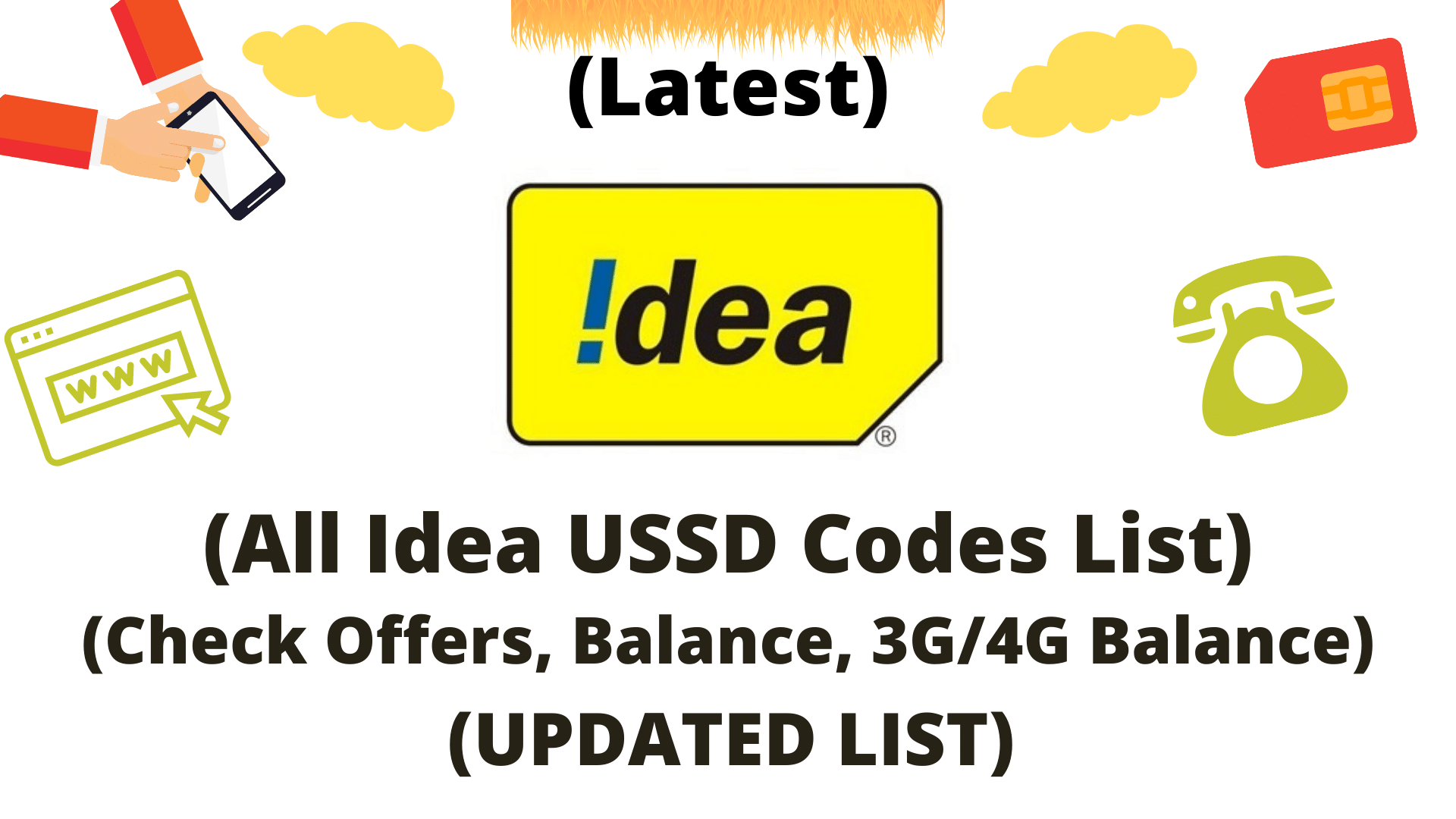 All IDEA USSD Codes List