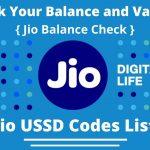 Jio USSD Codes List To Check Balance and Validity | Jio Balance Check Code