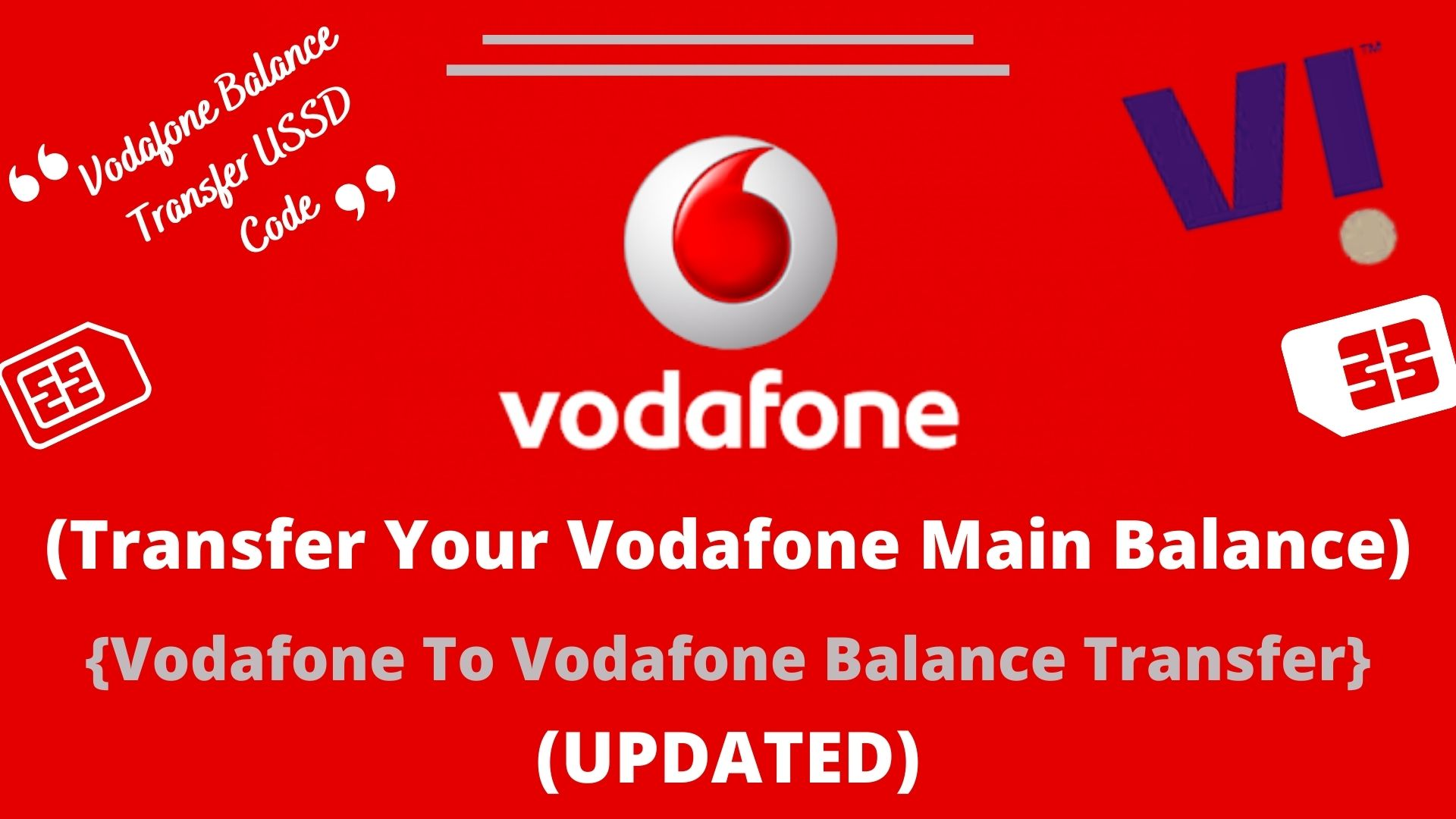 Transfer Your Vodafone Main Balance