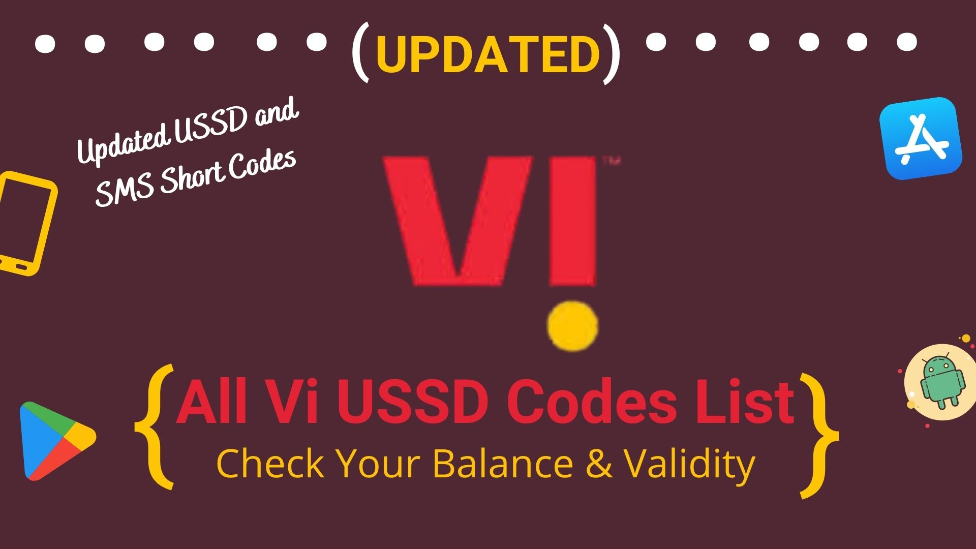 All Vi USSD Codes List
