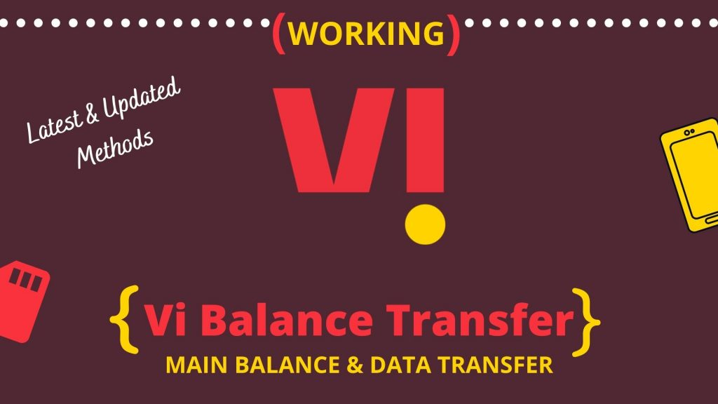 Transfer Your Vi Balance To Another Number